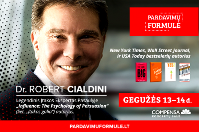 "[LiMA Partneris] Seminaras su Dr. Robert Cialdini ""Influence: The Ultimate Power Tool"""