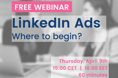 [LiMA rekomenduoja] LinkedIn Ads: Where to begin?